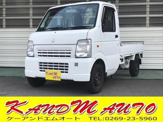 スズキ KCエアコン・パワステ 4WD 5速マニュアル 新品タイヤ