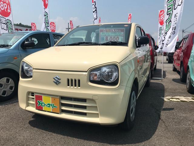 スズキ L 軽自動車 シフォンアイボリーメタリック アイドリング