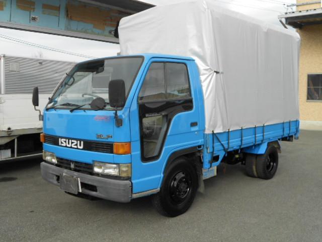 いすゞ ロングフラットロー4WD1.5t幌付