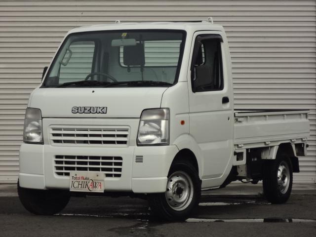 キャリイトラック KCパワステ農繁仕様 4WD搭載車 5速マニュアル 三方開