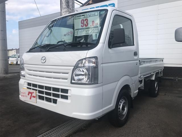 マツダ スクラムトラック KCエアコン・パワステ農繁 4WD 三方開 届出済未使用車 ABS 両席エアバック
