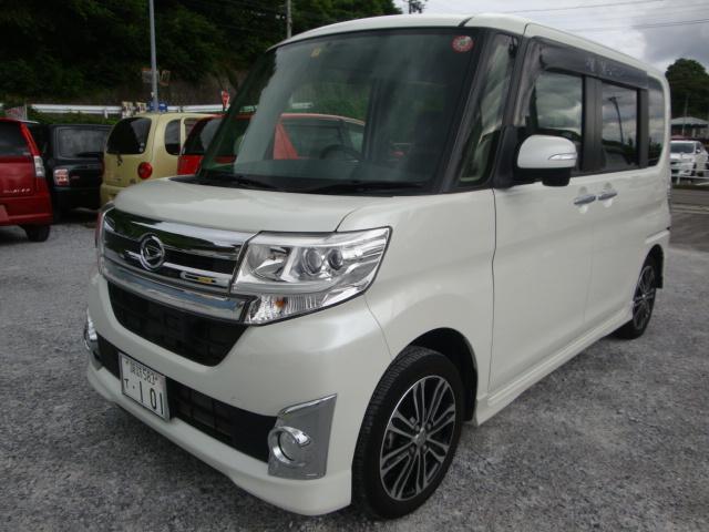 ダイハツ カスタムRS SA 4WD ターボ 新品タイヤ 社外ナビ