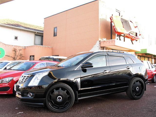 キャデラック プレミアム AWD パノラミックルーフ ジオバンナ22インチアルミ 黒革シート CUEシステム SDナビ フルセグ