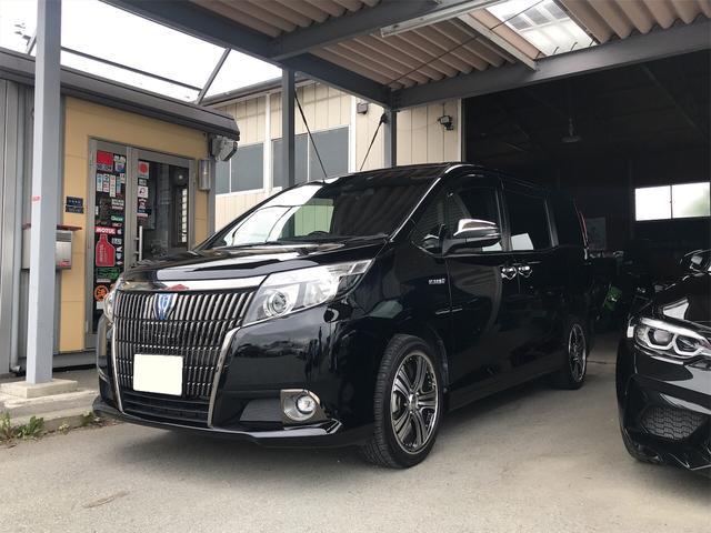 トヨタ HV Giブラックテーラードセーフティセンス 後席モニター
