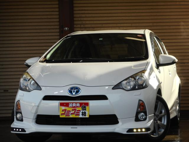 トヨタ S ワンオーナー TRDエアロ LEDライト デイライト ガナドールマフラー 純正16インチアルミ SDナビ・フルセグ Bluetooth対応