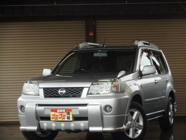 日産 エクストレイル X 4WD ハイパールフレール アンダーガード カプロンシート シートヒーター 切替式4WD ETC車載器 キーレスエントリー 車検整備付