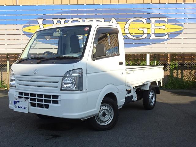 スズキ KCエアコン・パワステ MT5速 4WD エアコン パワステ デフロック ヘッドライトマニュアルレベリング機能付 荷台ライト付き ロングラン保証