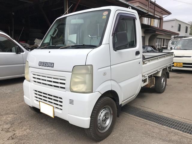 スズキ 4WD 5MT 軽トラック オーディオ付 ホワイト PS
