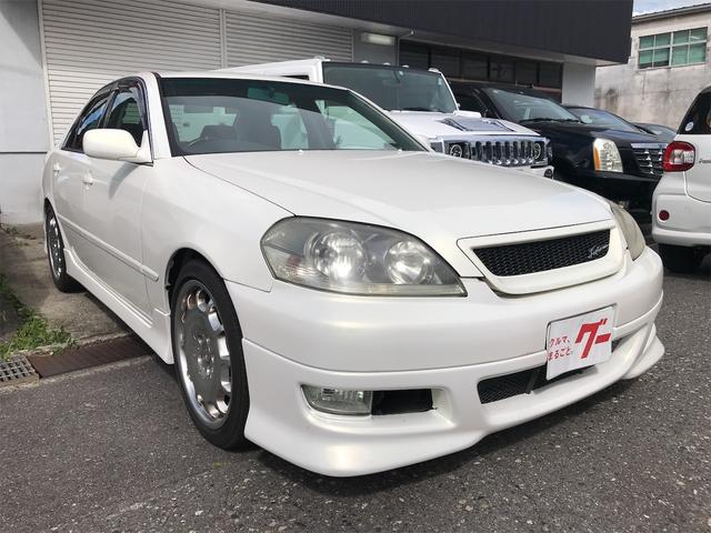トヨタ マークII iR-V サンルーフ 5MT 車高調 VVT-Iターボ MOMOハンドル 運転席パワーシート 社外マフラー
