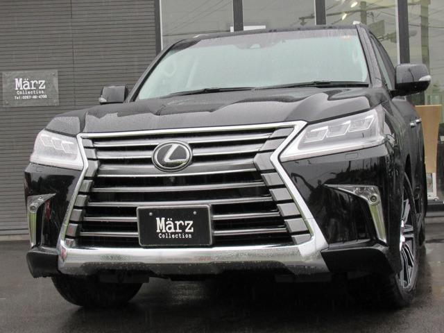 レクサス LX570 LexusSafetySystem+ マークレビンソン リアエンターテイメント アラウンドビューモニター 三眼フルLEDヘッドランプ LEDシーケンシャルターンシグナル 禁煙車 新車保証付き