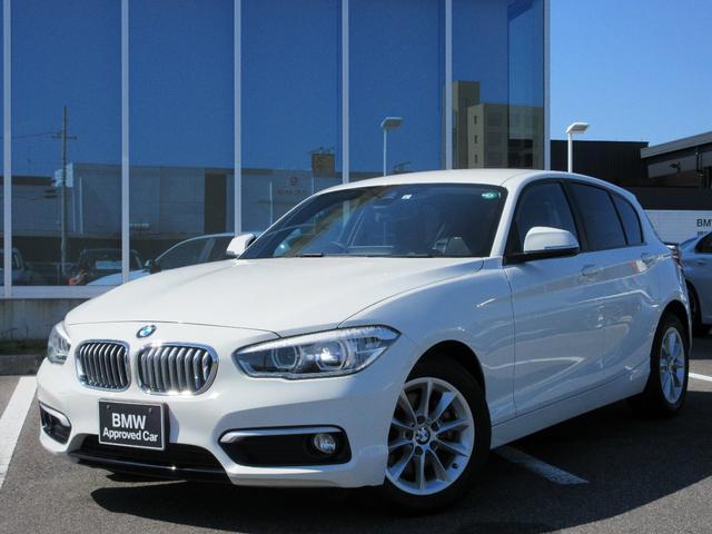 BMW 1シリーズ 118i スタイル パーキングサポートPKG LEDヘッドライト 16インチAW クルーズコントロール ミラー内蔵ETC ハンズフリー ワンオーナー禁煙車 1年保証