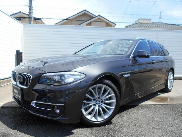 BMW 5シリーズ 523dツーリング ラグジュアリー 18AW黒革ウッドパネルACC禁煙1オーナー認定中古車
