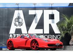 フェラーリ 458スパイダーSVRエアロ LEDハンドル 鍛造ホイール  赤革シート