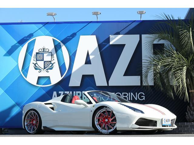 フェラーリ 正規ディーラー車 鍛造ホイール ローダウン 純正リフティング