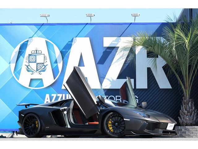 ランボルギーニ LP700-4 正規ディーラー車 マットブラックカラー ボディーフルプロテクションフィルム施工済 社外地デジTV 純正OP20、21インチAW ガラスエンジンフード ブランディングPKG 純正可変マフラー 記録簿有