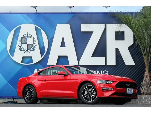 フォード マスタング エコブースト プレミアム 実走行証明書付 19yモデル レンズレッド 純正アップルカープレー