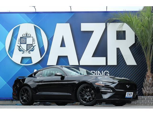 フォード マスタング エコブースト プレミアム 実走行証明付 2018yモデル パフォーマンスパッケージ ワンオフマフラー オプション19インチAW アイバッハローダウン ボディー同色ペイント Fr純正ブレンボブレーキ アップルカープレイ
