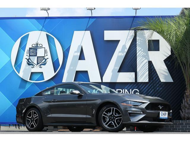 フォード マスタング  プレミアムエコブースト アップルカープレイ コーナーセンサー バックカメラ 黒革 LEDヘッドライト 純正ホイール 電動シート シートヒーター