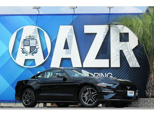 フォード マスタング  プレミアム エコブースト アップルカープレイ コーナーセンサーバックカメラ ブラウンxブラックレザーシート LEDヘッドライト電動シート 純正ホイール シートクーラー&ヒーター AT10速