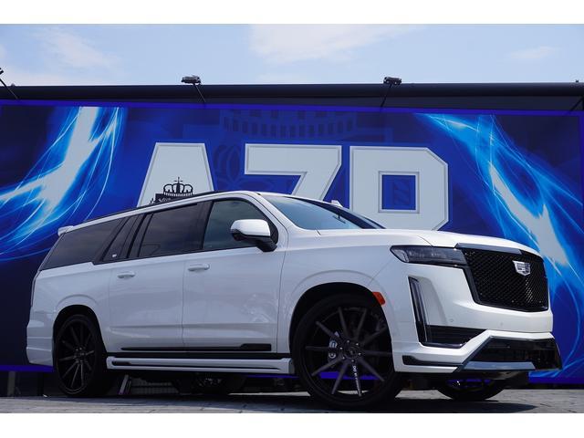 キャデラック ESV スポーツ 新車並行車 2021年モデル パノラマサンルーフ AKGオーディオ リアエンターテイメント 純正22インチAW 電動ステップ アップルカープレイ ソフトクローズ