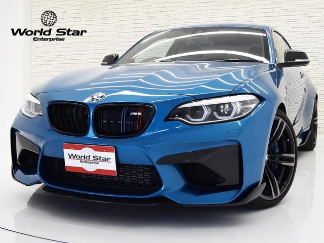 BMW M2 ベースグレード セレクトPKG 電動ガラスサンルーフ Mパフォーマンスエアロ スターケンカーボンフロントスポイラー フロントバンパーインサート 19インチMライトアロイAW  FシートH カーボンインテリア