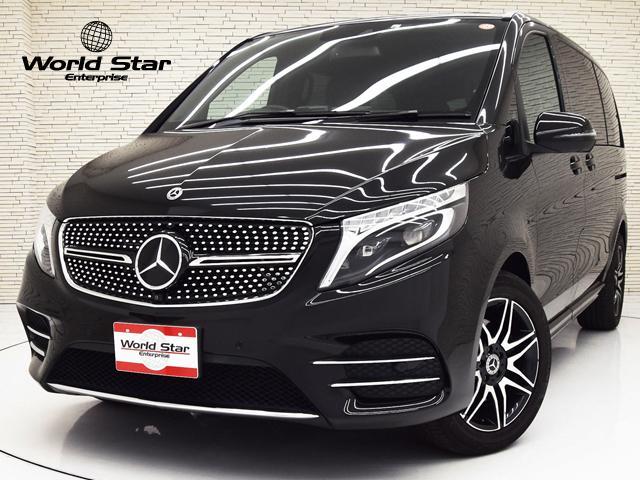 メルセデス・ベンツ Vクラス V220d スポーツ レーダーセーフティPKG レザーPKG ブラック本革シート シートH カーボン調インテリアトリム 360°カメラ AMGデザインエクステリア AMG19インチ7ツインスポークAW LEDヘッドライト