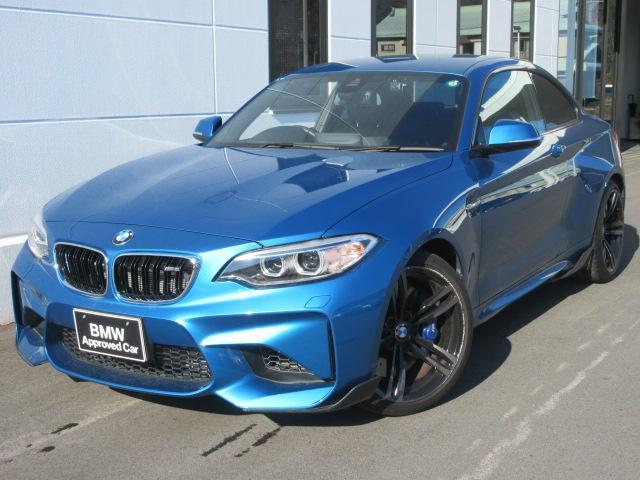 BMW M2 ベースグレード M DCT ドライブロジック M performanceエアロパーツ装着車 ブラックレザー シートヒーター ワンオーナー 1年AC保証