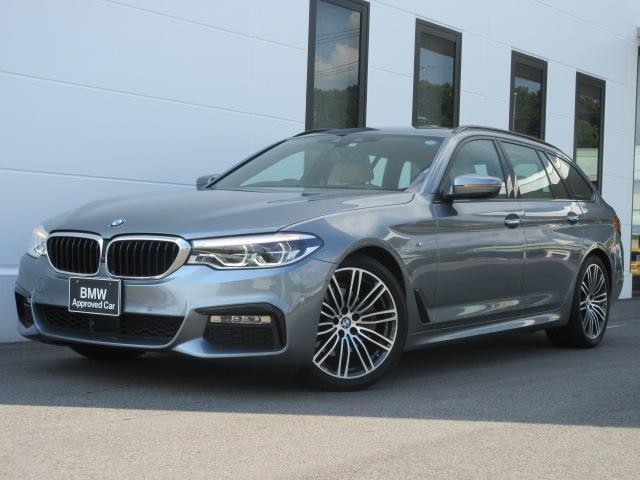 BMW 523iツーリング Mスポーツ ハイラインPKG ベージュレザー シートヒーター ウッドトリム リアシートヒーター LEDヘッドライト アクティブクルーズコントロール 電動トランク 19インチAW ワンオーナー禁煙車 1年保証