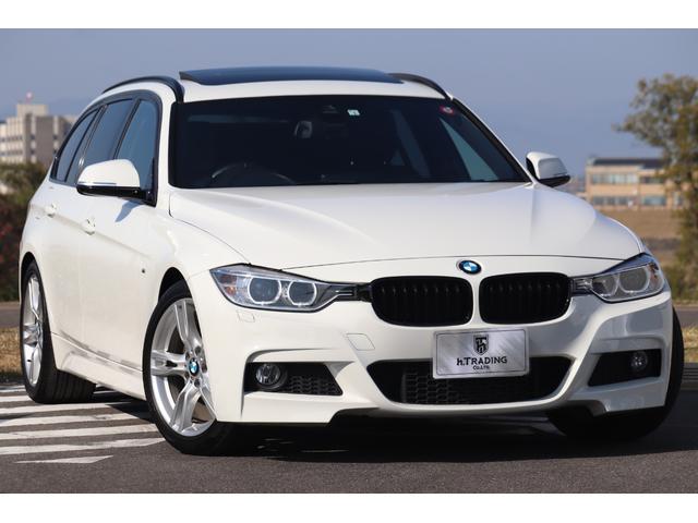 BMW 320dツーリング Mスポーツ 黒革フルレザー パノラマサンルーフ 純正HDDナビ Bカメラ インテリジェントセーフティ PDC 純正18AW 電動テールゲート レーンディパーチャーウォーニング コンフォートアクセス