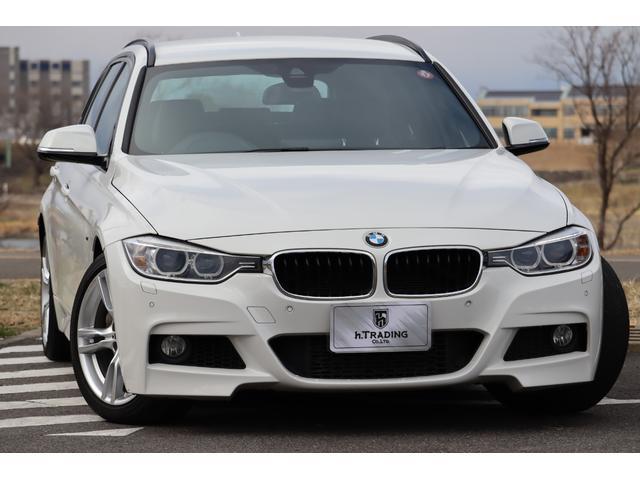 BMW 335iツーリング Mスポーツ 8AT パドルシフト V6ツインターボ 1オーナー 黒革シート シートヒーター 純正HDDナビ バックモニター 電動テールゲート インテリジェントセーフティ ACC 車線逸脱防止機能