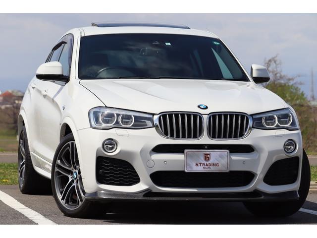 BMW X4 xDrive 35i Mスポーツ 3DDesignフロントリップ&ディフューザー&マフラー&トランクスポイラー&ブレーキペダル 純正OP 20AW パノラマサンルーフ ブラックレザー インテリジェントセーフティ 360度カメラ