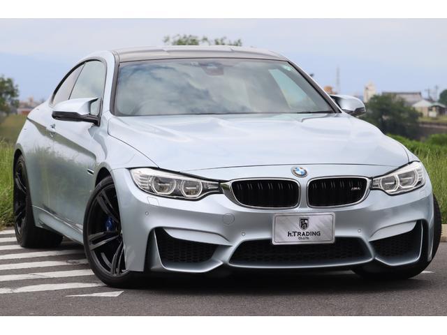 BMW M4 M4クーペ M DCT ドライブロジック パドルシフト カーボンルーフ オプション19AW メリノレザー 純正HDDナビ インテリジェントセーフティ  KW車高調 ヘッドアップディスプレイ