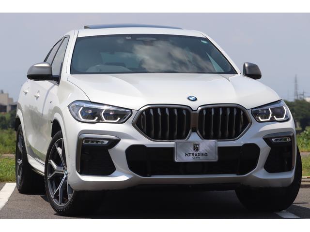 BMW X6 M50i 法人1オーナー 新車保証付 Individualエクステンド・レザー・メリノ パノラマSR harman/kardon ACC ヘッドアップディスプレイ アラームシステム 後退アシスト 置くだけ充電