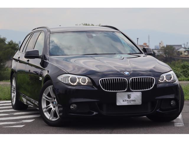 BMW 5シリーズ 523iツーリング Mスポーツパッケージ 下取り車両 カーボンブラック 8AT パドルシフト Mスポーツ専用ハーフレザー 純正HDDナビ バックカメラ マルチファンクションステアリング Mスポーツ専用18AW スポーツサスペンション