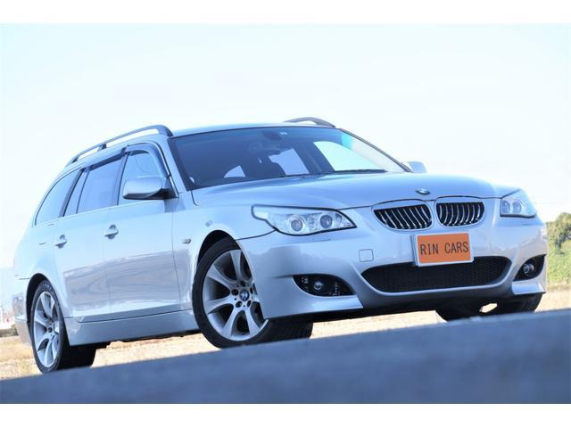BMW 525iツーリング Mスポバンパー 社外ヘッドライト グリル