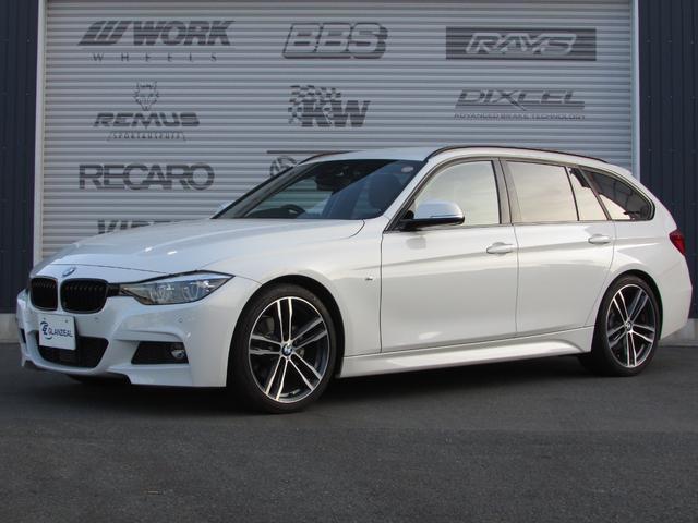BMW 3シリーズ 320dツーリング Mスポーツ エディションシャドー ワンオーナー レザーシート シートヒーター パワーバックドア 純正ナビ タッチパネル 専用アルミ