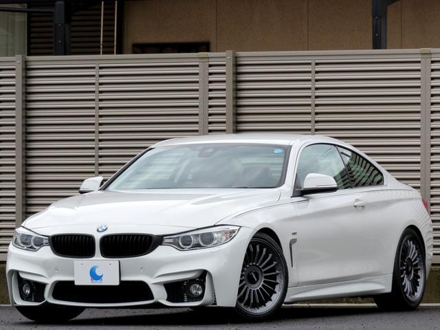 BMW 4シリーズ 420iクーペ ラグジュアリー M4仕様 ワンオーナー ブラウンレザーシート 19インチAW 純正HDDナビ リアビューカメラ バイキセノン LEDライトリング クルコン インテリジェントセーフティ アイドルストップ スペアキー