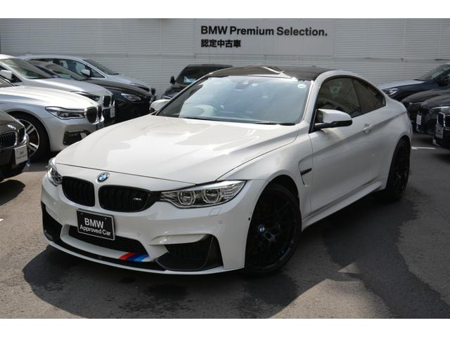 BMW M4クーペ コンペティション ワンオナ禁煙車 黒革 ETC