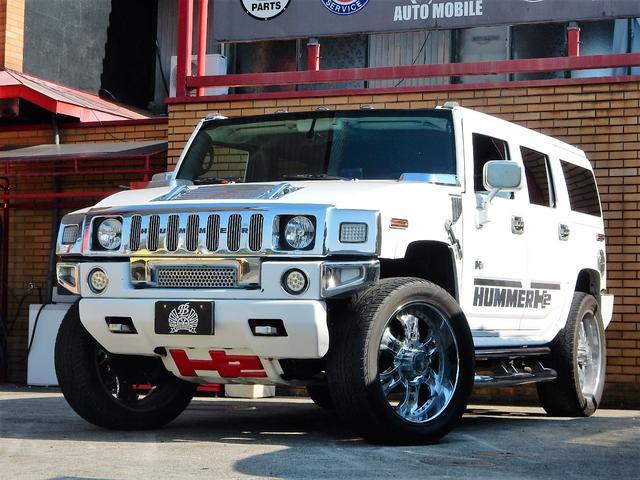 ハマー  4WD 26インチホイール 社外4本出しマフラー 各メッキパーツ ナビ&TV ETC 1ナンバー登録