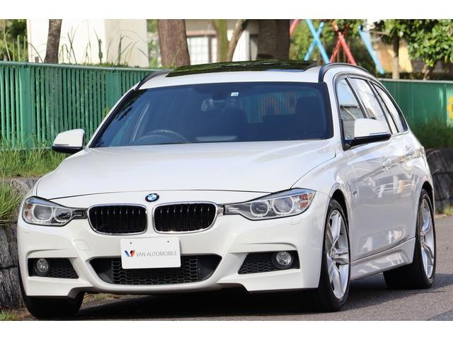 BMW 3シリーズ 320dブルーパフォーマンス ツーリング Mスポーツ ガラスサンルーフ・Mスポーツ18インチ・Mエアロダイナミクス・スマートキー・パワーバックドア・HDDナビ・DVDビデオ・Bカメラ・車幅センサー・Bluetooth・AUX IN・USB・ミラーETC