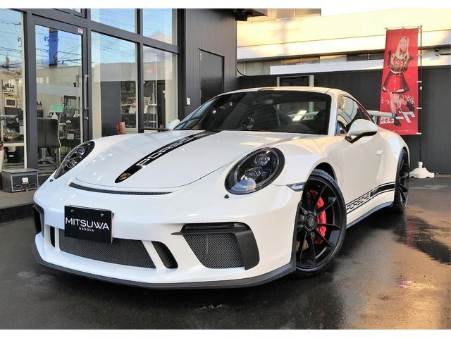 ポルシェ 911GT3 6速ミッション スポーツクロノPKG フロントリフティング LEDヘッドライトインナーブラック カーボンインテリア 20AWブラックホイール レッドステッチ スポーツエキゾースト 純正デカール