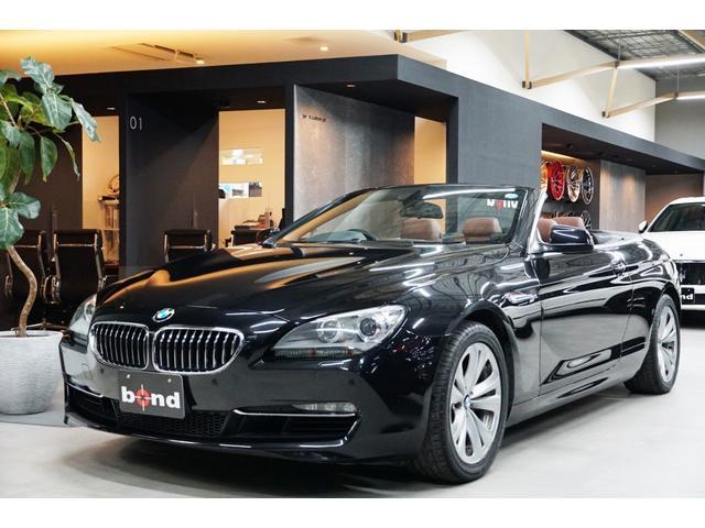 BMW 6シリーズ 640iカブリオレ ブラウンレザー シートヒーター ブラック幌 社外レーダー探知機 ドライブレコーダー