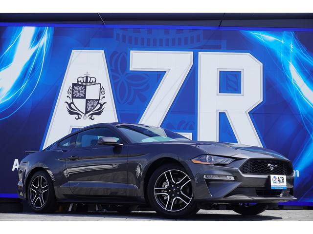フォード マスタング  エコブースト プレミアム 6速MT車 走行証明書付 ボンネットダンパー タワーバー ダックテール 社外マフラー メモリー付きパワーシート シートヒーター&クーラー アップルカープレイ 純正18AW