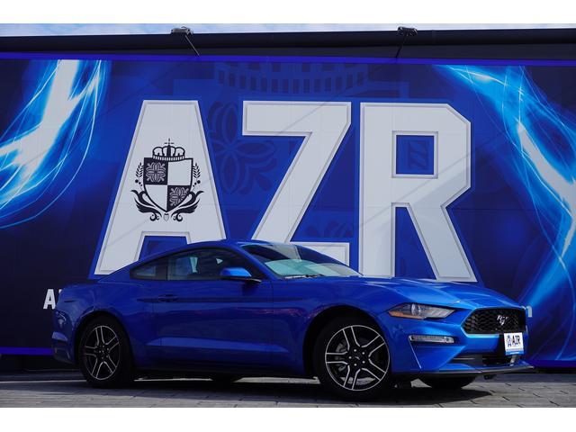 フォード マスタング  プレミアム エコブースト 純正18AW アップルカープレイ アンドロイドオート アダプティブクルーズコントロール 3眼ヘッドライト シーケンシャルウインカー コーナーセンサー  スマートキー