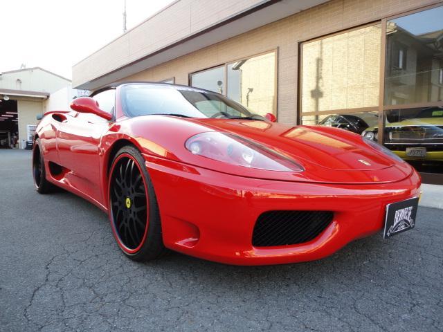 フェラーリ 360 スパイダー 正規ディーラー車 F&Rチャレンジグリル ホージアート20AW  ハーマンリアウイング クライスジークマフラー