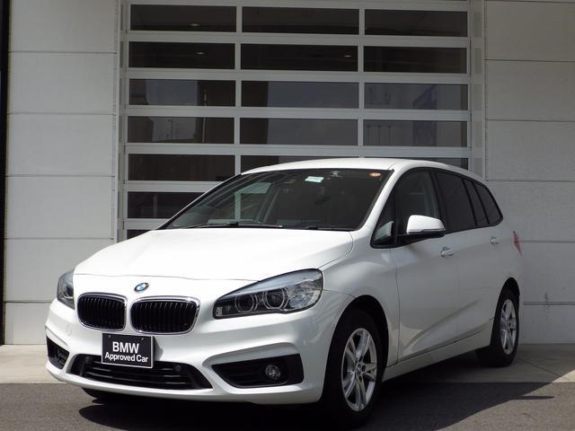 BMW 218iグランツアラー 1.5Lターボ 16インチアルミ バックカメラ 衝突被害軽減ブレーキ クリアランスソナー 純正ナビ クリアランスソナー CD/DVD Bluetooth対応 ミュージックプレイヤー対応
