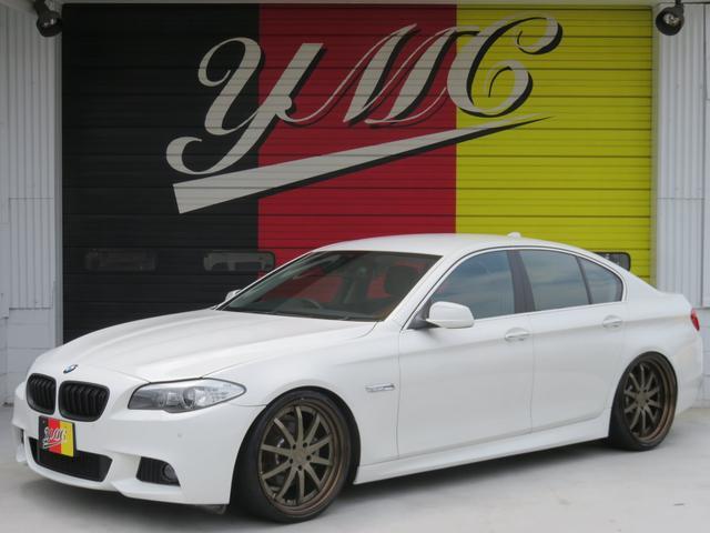 BMW 528i Mスポーツエアロ 車高調 社外21AW 黒革シート