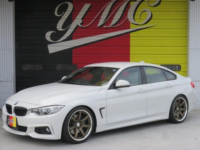BMW 420iグランクーペ Mスポーツ ローダウン 19AW 白革