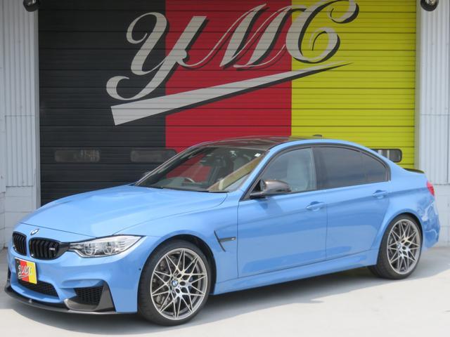 BMW M3セダン コンペティション OPカーボンスポイラー 白革