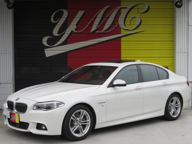 BMW 528i Mスポーツ 左H 後期 黒革 SR LEDヘッド